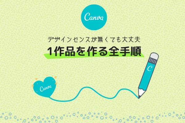 Canvaでアイキャッチやピンを作る手順を図解で解説。これでCanvaの操作方法がわかるよ